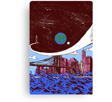 Silver Surfer finds Earth Canvas Print