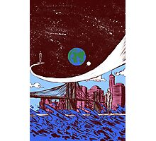 Silver Surfer finds Earth Photographic Print