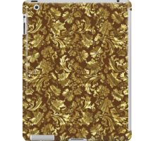 Gold And Brown Tones Vintage Elegant Floral Damasks iPad Case/Skin
