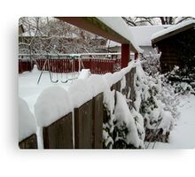 Snow Fence........... Canvas Print