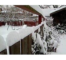 Snow Fence........... Photographic Print