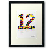 12 Framed Print