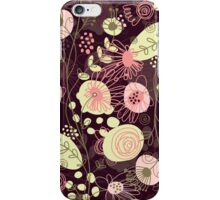 Cute Pastel Pink And Yellow Abstract Retro Flowers Design iPhone Case/Skin