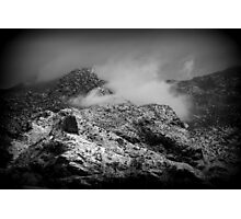 B/W Snowy Mountain Photographic Print