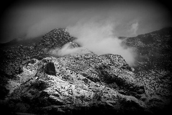 B/W Snowy Mountain by Kimberly Chadwick