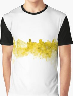 Sao Paulo skyline in yellow watercolor on white background Graphic T-Shirt