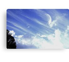 Afternoon Moon #3 Canvas Print