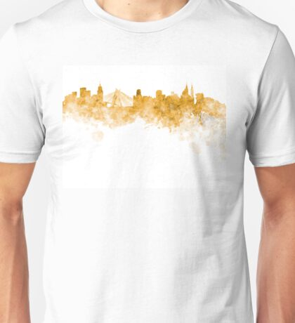 Sao Paulo skyline in orange watercolor on white background Unisex T-Shirt
