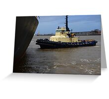 SVITZER WATO TUG, NEWCASTLE HARBOUR. Greeting Card