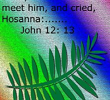 Palm Sunday (John 12:13) greeting card by Deborah Lazarus
