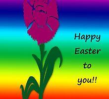 """""""Happy Easter""""  greeting card by Deborah Lazarus"""