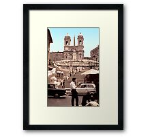 Spanish Stairs 1968 2 Framed Print