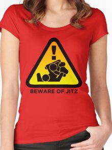 Beware of Jitz (Jiu Jitsu) 2 Women's Fitted Scoop T-Shirt