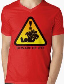Beware of Jitz (Jiu Jitsu) 2 Mens V-Neck T-Shirt