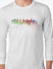 Sao Paulo skyline in watercolor on white background Long Sleeve T-Shirt
