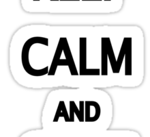 Keep Calm and Cave On Sticker