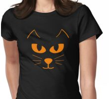 Cat's Face Womens Fitted T-Shirt
