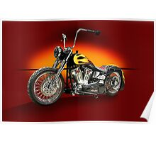 HD Custom Motorcycle Poster
