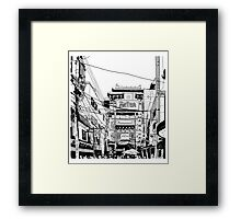 Yokohama - China town Framed Print