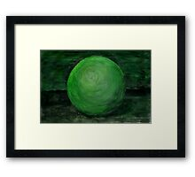 Green Ball Framed Print