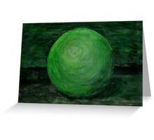 Green Ball Greeting Card