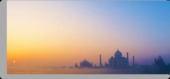 Sunrise over the Taj Mahal by David Alexander Elder