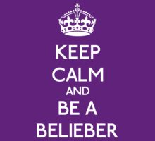 Keep Calm and be a Belieber (White) T-Shirt