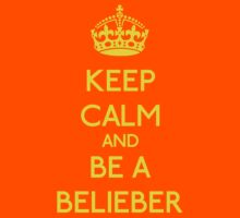 Keep Calm and be a Belieber (Yellow) T-Shirt