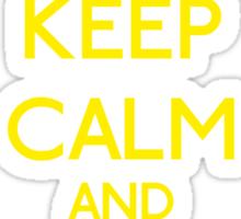 Keep Calm and be a Belieber (Yellow) Sticker