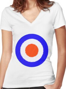 Distressed MOD Women's Fitted V-Neck T-Shirt