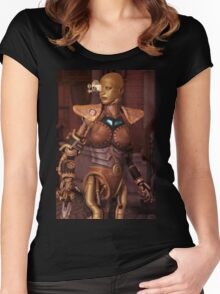 Steampunk Android Women's Fitted Scoop T-Shirt