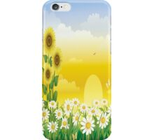 Sunny Day , Sunflowers , White Flowers  iPhone Case/Skin