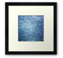 Frozen windscreen Framed Print