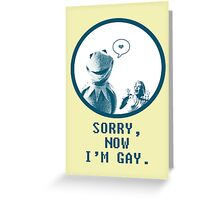 Kermit in Love Greeting Card