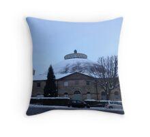 The Dome, Buxton. Winter. Throw Pillow