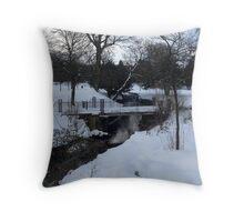 Pavilion Gardens, Buxton. Snow. Throw Pillow