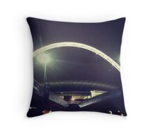 Wembley Arch. Night. Throw Pillow