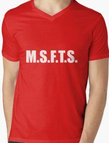 MSFTS Mens V-Neck T-Shirt