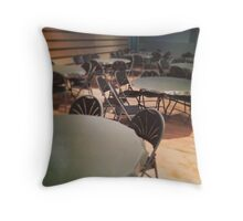 Chairs and tables Throw Pillow