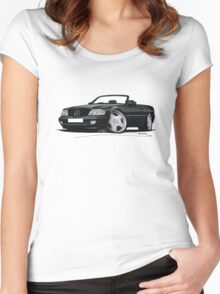 Mercedes SL (R129) Black Women's Fitted Scoop T-Shirt