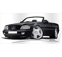 Mercedes SL (R129) Black Poster