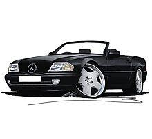 Mercedes SL (R129) Black Photographic Print