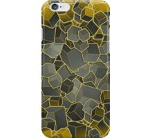 Boxes - Grey and Yellow iPhone Case/Skin