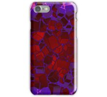 Boxes - Red and Purple iPhone Case/Skin