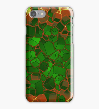 Boxes - Green and Orange iPhone Case/Skin