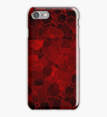 Boxes - Red Variant iPhone Case/Skin