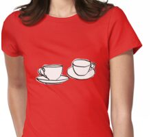 Two Tea Cups Womens Fitted T-Shirt