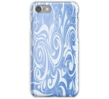 Blue and White Swirl Pattern iPhone Case/Skin