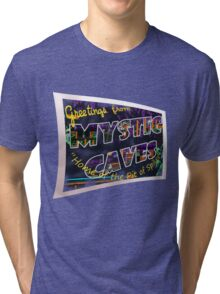 Greetings from 'Mystic Caves'! Tri-blend T-Shirt