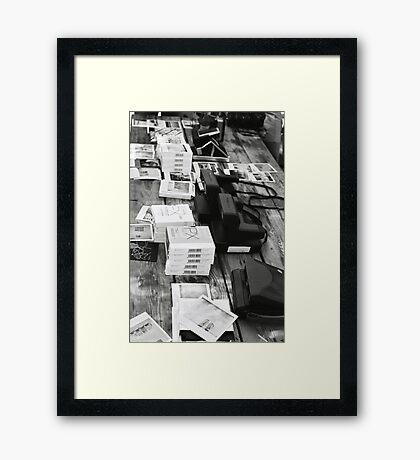Film on film Framed Print